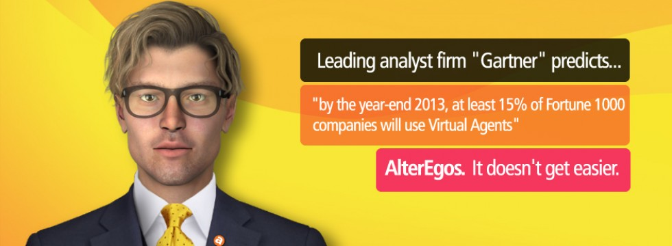 AlterEgos Virtual Agent software system, auto movement also lip synch.