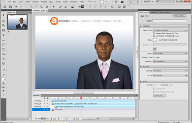 AlterEgos HD Captivate e-learning Virtual Agent Integration with transparent background